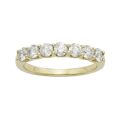 1 CT. T.W. Certified Diamonds 14K Yellow Gold Wedding Band Ring