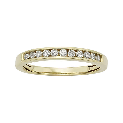 1/4 CT. T.W. Certified Diamonds 14K Yellow Gold Wedding Band Ring