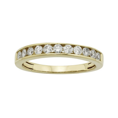 1/2 CT. T.W. Certified Diamonds 14K Yellow Gold Wedding Band Ring