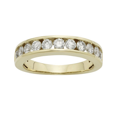 1 CT. T.W. Certified Diamonds 14K Yellow Gold Wedding Band Ring