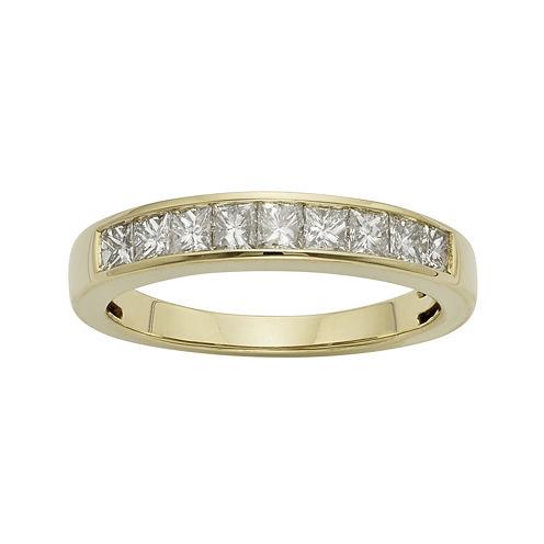 3/4 CT. T.W. Certified Diamonds 14K Yellow Gold Wedding Band Ring