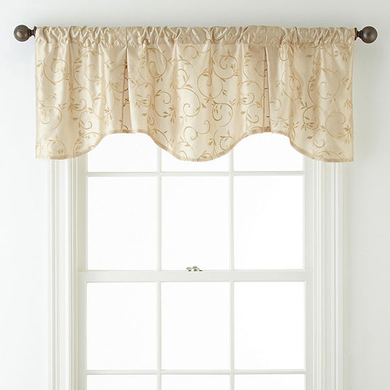Napoli Scalloped Rod Pocket Valance