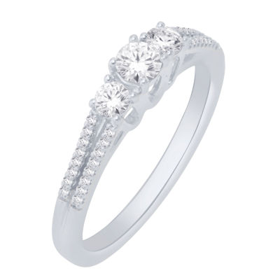 14K White Gold 1/2 Cttw Ring