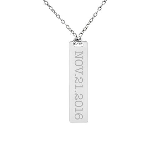 Personalized Sterling Silver Date Dog Tag