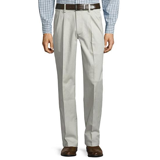 St. John's Bay® Stretch Iron Free Expandable Waist Pleated Pant