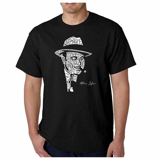 Los Angeles Pop Art Capone Short Sleeve Word Art T-Shirt-Men's Big and Tall