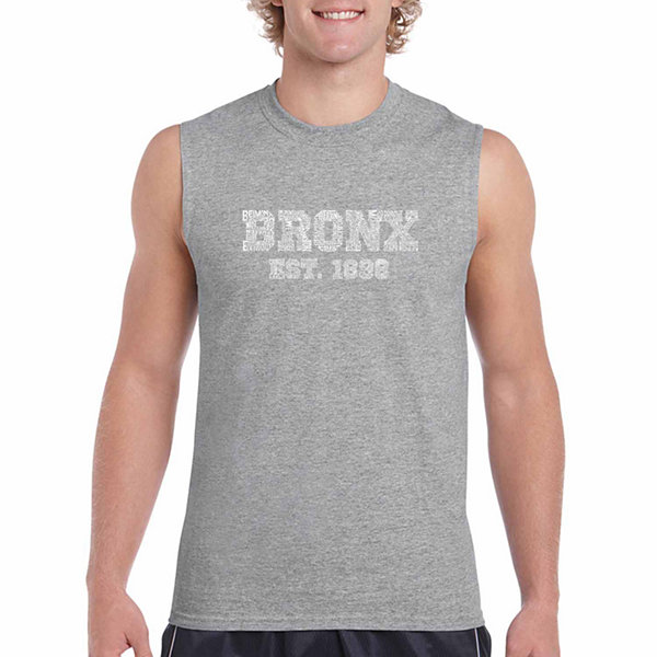 Los Angeles Pop Art Bronx Sleeveless Word Art T-Shirt- Men's Big and Tall