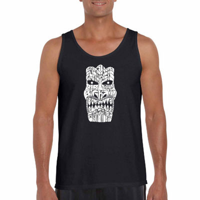 "Los Angeles Pop Art ""Tiki-Bigkahuna"" Word Art TankTop- Men's Big and Tall"
