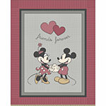 Disney Mickey Minnie Fleece Throw Kit