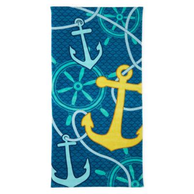 "Outdoor Oasis Anchor 30""x60"" Printed Beach Towel"