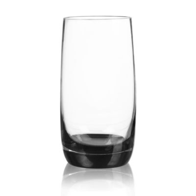 Qualia Glass Ebony 4-pc. Highball Glasses