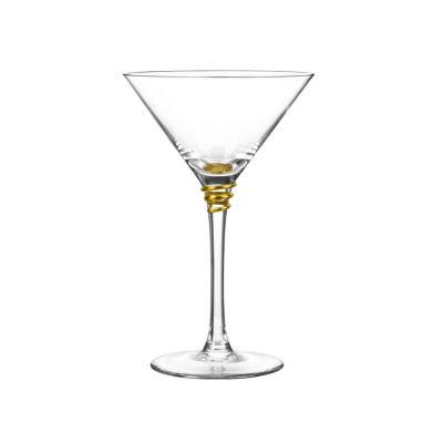Qualia Glass Helix Gold 4-pc. Martini Glass