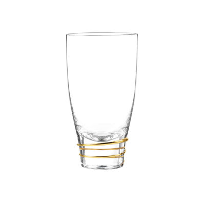 Qualia Glass Helix Gold 4-pc. Highball Glasses