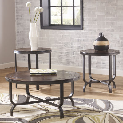 Signature Design By Ashley Ferlin Coffee Table Set JCPenney - Ashley metal coffee table