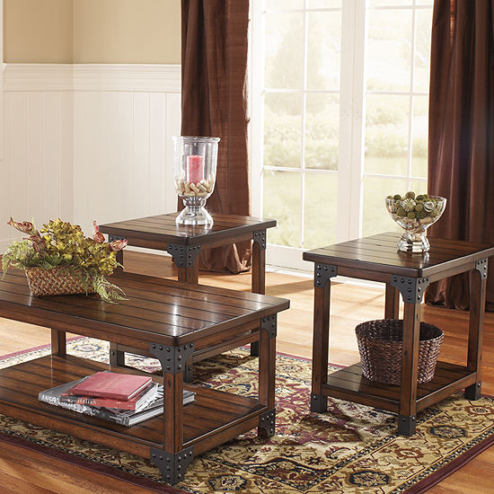 Signature Design By Ashley Murphy Coffee Table Set JCPenney - Ashley signature coffee table set