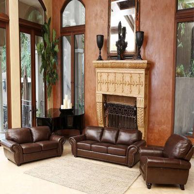 Alexa Leather Sofa + Loveseat Set