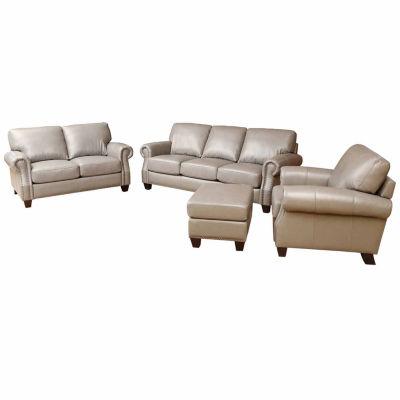 Arianna Leather Sofa + Loveseat Set