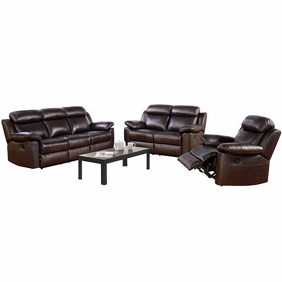 Caroline Leather Sofa Loveseat Set