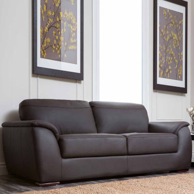 Chloe Leather Pad-Arm Sofa