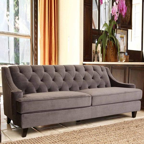Beautiful Ethan Velvet Tufted Sofa