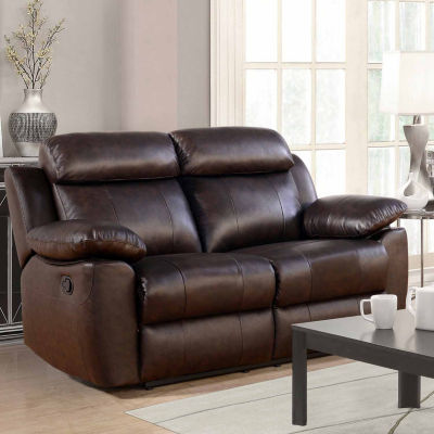 Caroline Pad-Arm Reclining Loveseat
