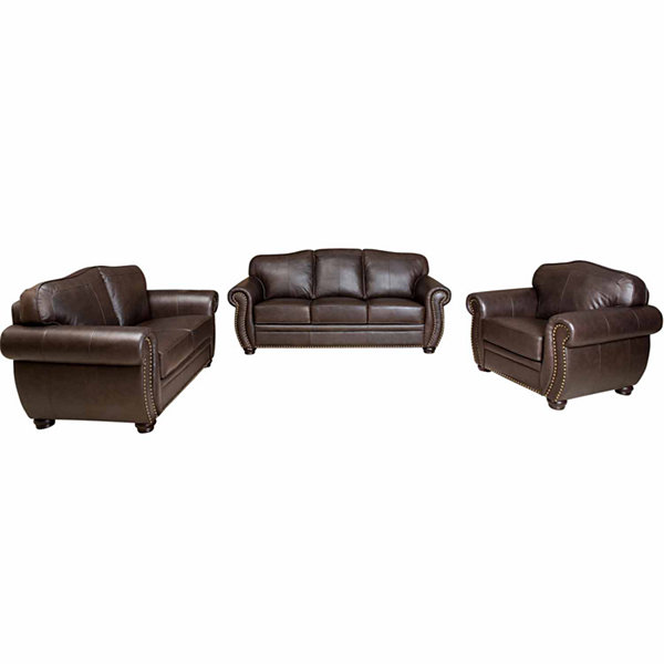 High Quality Elizabeth Leather Sofa + Loveseat Set