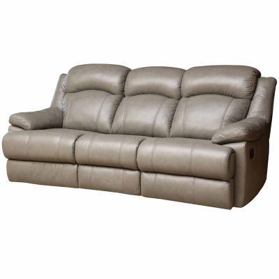 Natalie Leather Pad-Arm Reclining Sofa