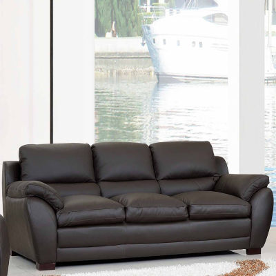 Piper Leather Pad-Arm Sofa