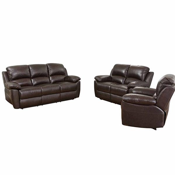 Perfect Paisley Leather Sofa + Loveseat Set