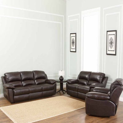 Paisley Leather Sofa + Loveseat Set