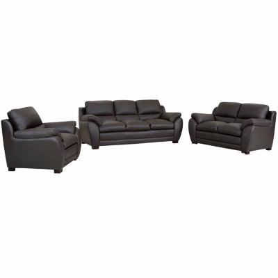 Piper Leather Sofa + Loveseat Set