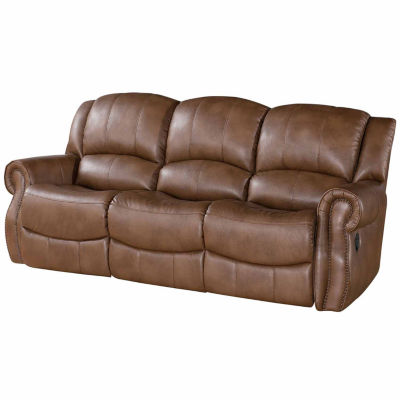 Alexander Faux Leather Roll-Arm Reclining Sofa