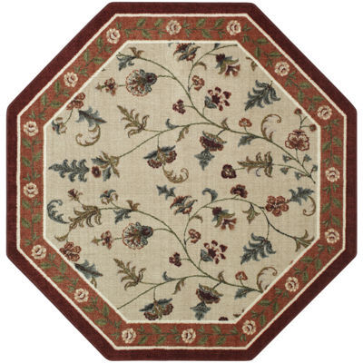 Brumlow Flower Patch Washable Octagonal Rug