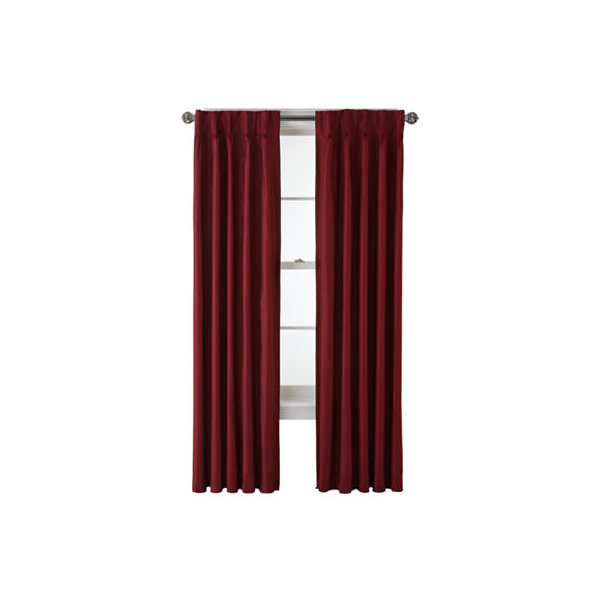 Royal Velvet Supreme Pinch Pleat/Back Tab Lined Curtain Panel JCPenney