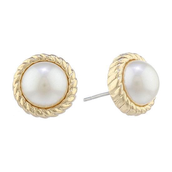 Monet Jewelry 14mm Round Stud Earrings