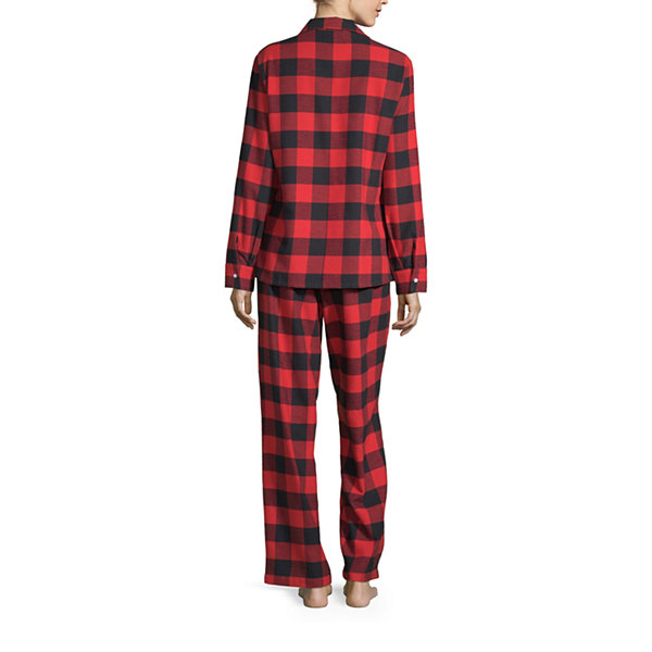 North Pole Trading Co. Buffalo Plaid Family Womens Pant Pajama Set 2-pc. Long Sleeve