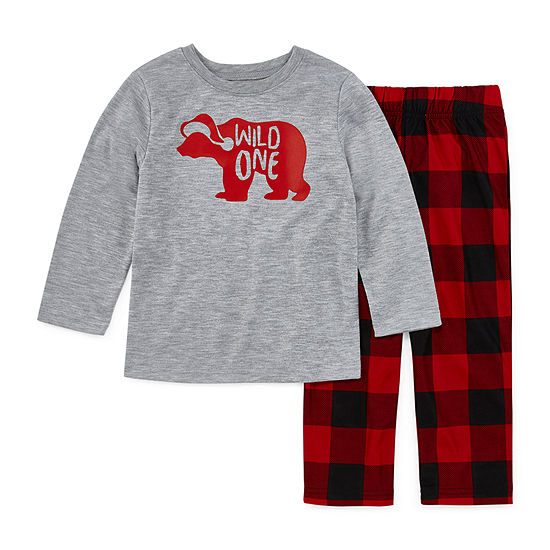 North Pole Trading Co. Buffalo Plaid Family Unisex 2-pc. Pant Pajama Set Toddler
