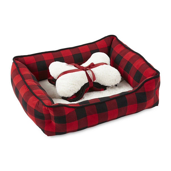 North Pole Trading Co. Buffalo Plaid Family Pet Bed Set -Pet