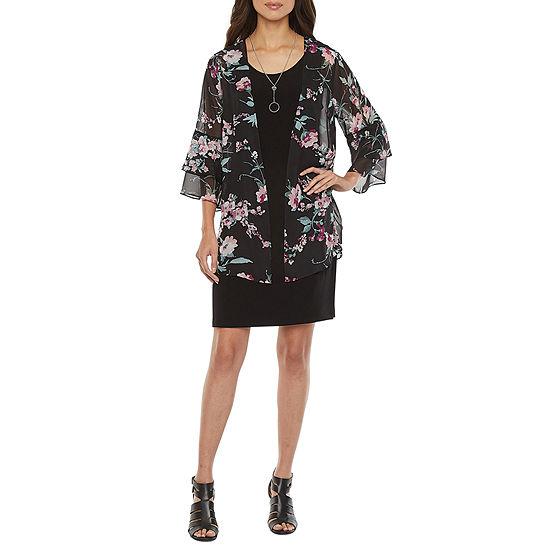Alyx 3/4 Sleeve Floral Jacket Dress