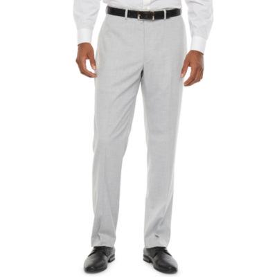 Van Heusen Air Light Grey Mens Stretch Slim Fit Suit Pants