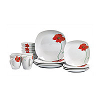 dishes, glasses, & flatware