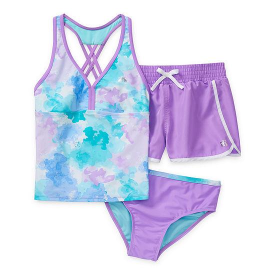 Zeroxposur Big Girls Plus Tie Dye Tankini Set