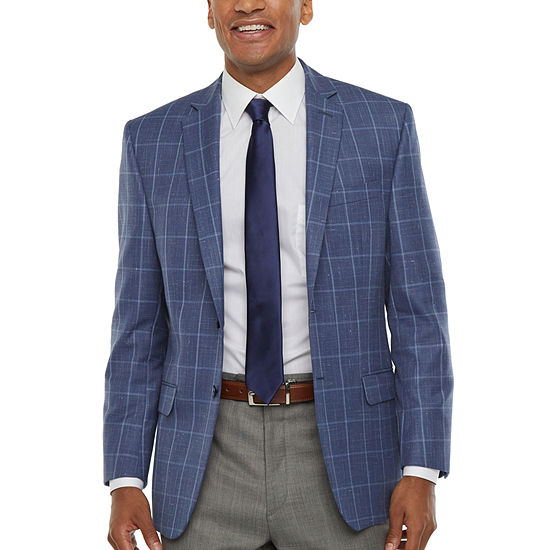 Collection By Michael Strahan Mens Windowpane Classic Fit Sport Coat
