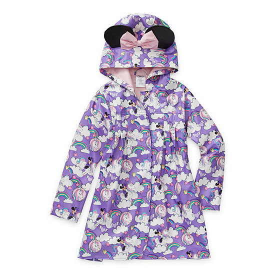 Disney Collection Little & Big Girls Minnie Mouse Water Resistant Midweight Raincoat