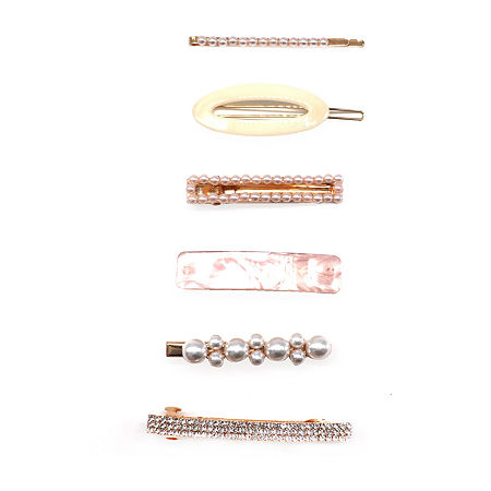 Mixit Resin 6-pc. Hair Clip, One Size , Beige