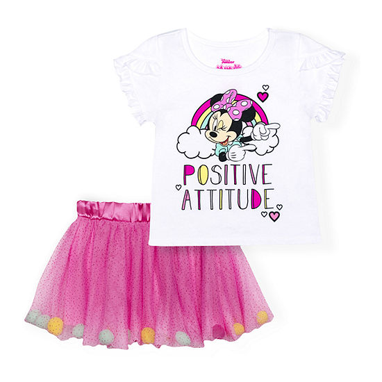 Disney Toddler Girls 2-pc. Minnie Mouse Skirt Set