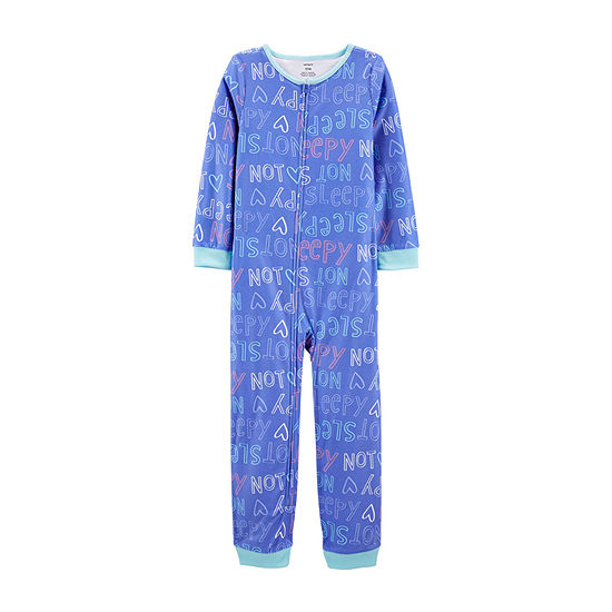 Carter's Little & Big Boys Fleece Long Sleeve One Piece Pajama