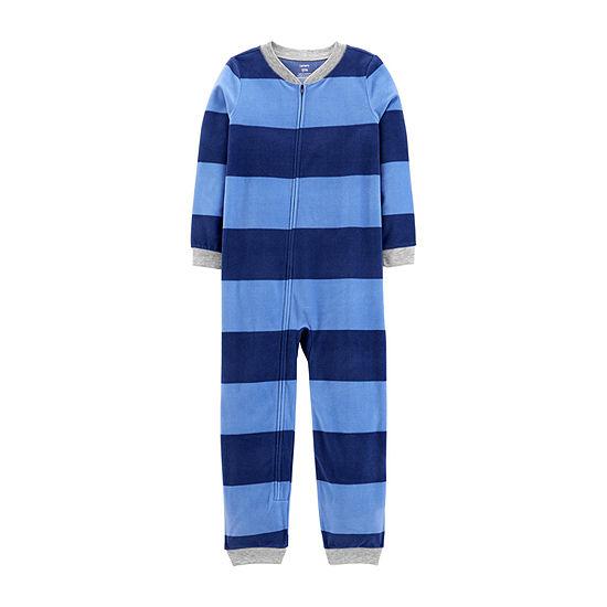 Carter's Little & Big Boys Fleece Long Sleeve One Piece Pajama