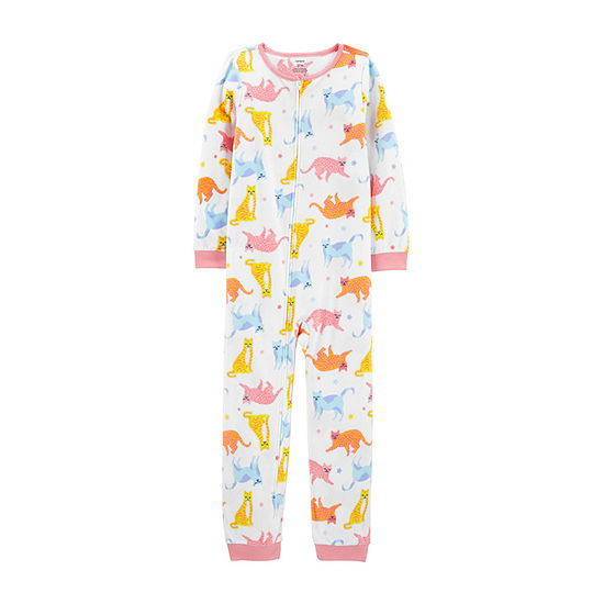 Carter's Little & Big Girls Fleece Long Sleeve One Piece Pajama