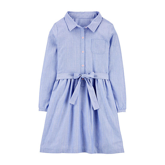 Carter's Big Girls Long Sleeve Shirt Dress